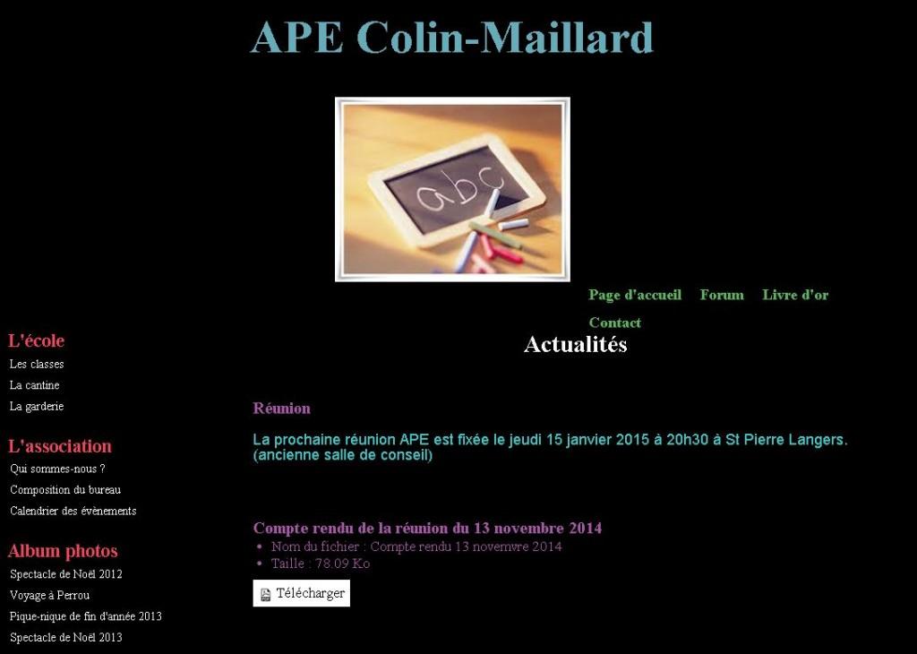 Capture site APE